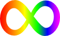 ASD rainbow-colored infinity symbol
